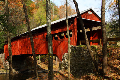 IMG#2607 Josiah Hess Bridge built in 1875 by Joseph Redline for $1,349.50. Located on Huntington Creek in Fishiing Creek Township, Columbia county, Pennsylvania. October 2009