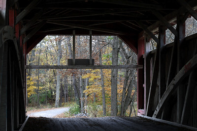 "IMG#2444 View from inside ""Keefer Bridge"" located in Liberty Township, Montour Pennsylvania. October 2009"