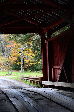 IMG#2494 Pine Township view through the Sam Eckman Bridge. Columbia county, Pennsylvania October 2009