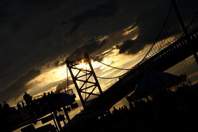 IMG#689 Ben Franklin Bridge Silhouette