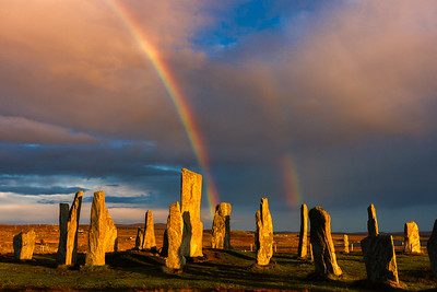 Callinish Stones and Double Rainbow
