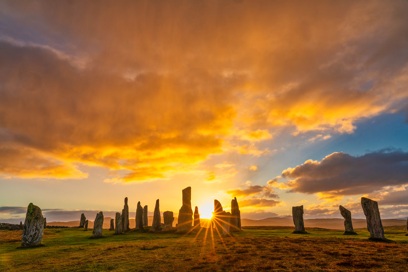 Sunset Over Callanish Stones, Isle of Harris