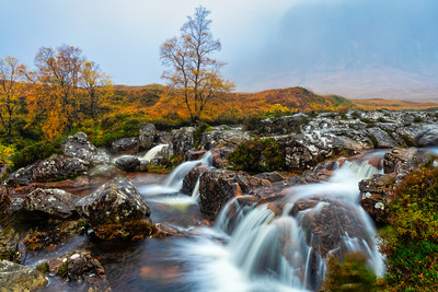 Waterfalls, Lost Valley, Scottish Highlands