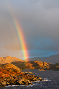 Rainbow Over The Cuillin Sound, Socttish Highlands