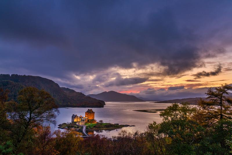 Eilean Donan Castle and Sunset Sky