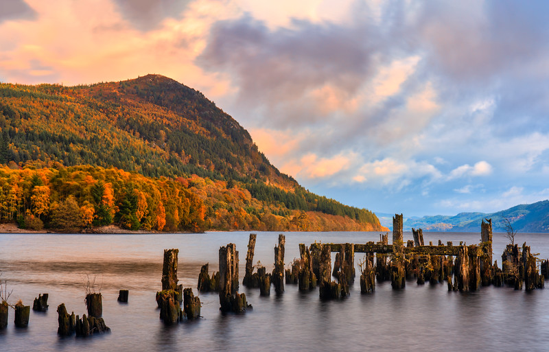 Loch Ness and Fall Color