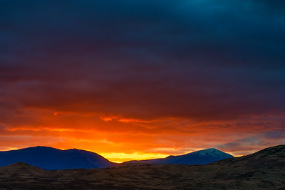 Sunset in the Scotland Highlands