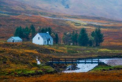 Cottage in Lost Valley, Scottish Highlands