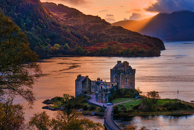Sunset Light at Eileen Donan Casttle, Isle of Skye