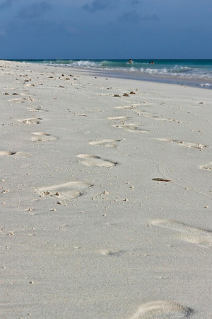 Footprints in the sand...Aruba 2014