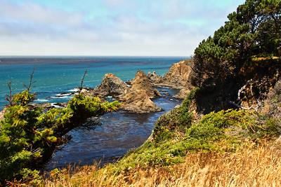 IMG#2940  Northern California coastline 8/9/12 12pm...rocky with no way down.