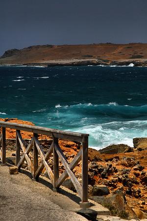 """IMH#1015 """"Do Not Enter""""...Fallen Natural Bridge, Western Aruba 2010"""