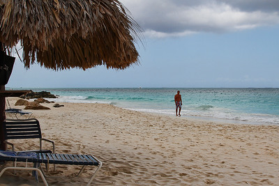 Casa Del Mar beach the day before we left. Mother Nature re-deposited our beach sand...Aruba 2014