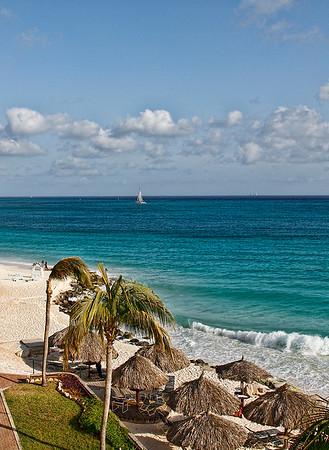 View from Casa Del Mar's fourth floor...Aruba 2014
