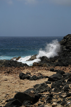 "IMG#9011 ""No Swimming""! Western end of Aruba-2009"