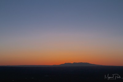 Beautiful sunset from the mesa high up