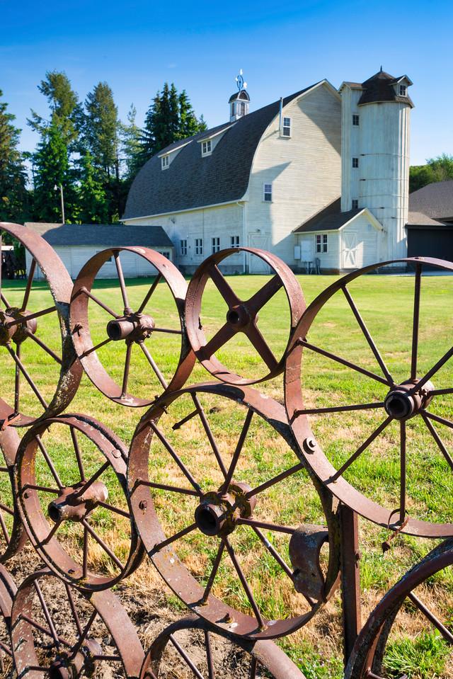 Dahman Barn and Wagon Wheels