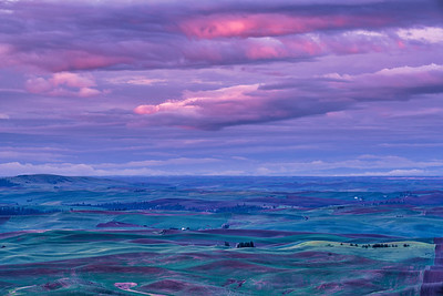 Lit Storm Clouds Over Palouse