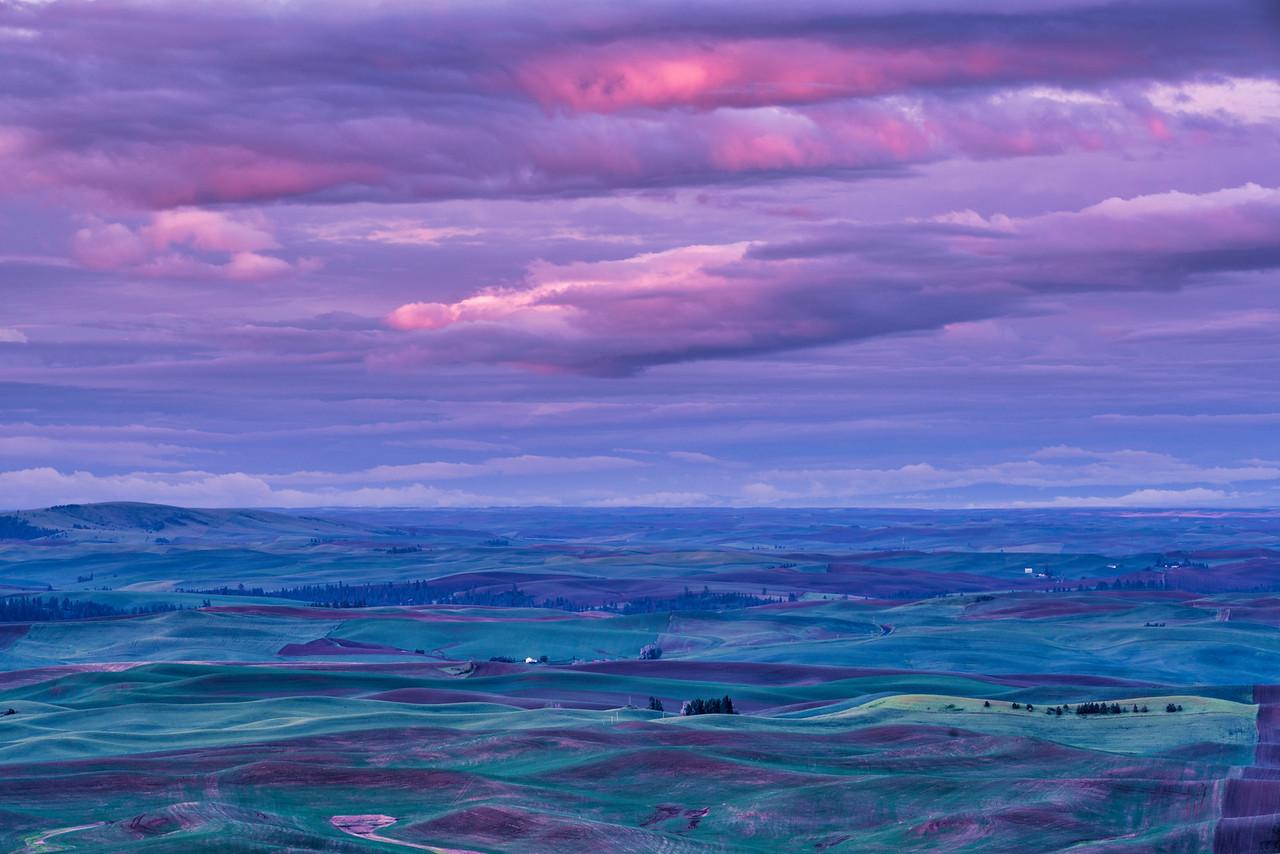 Lit Storm Clouds Over Palouse