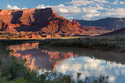 Fisher Tower Reflection in Colorado River
