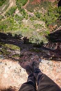 Switchbacks up to Observation Point and Hidden Canyon