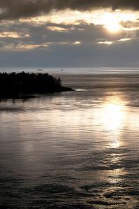 Deception Pass Sunset, Puget Sound wa, Feb 2010