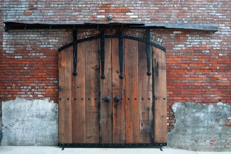 Sliding doors, Port Townsend water front,