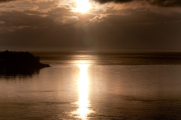 Deception Pass Sunset, Puget Sound wa, Feb 2010