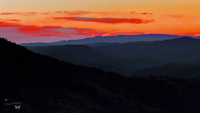 Sunset over the Mountains-Pipestem State Park