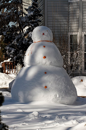 """""""Humongous"""" is the word for this 12 foot Snowman...Jan 23, 2016"""