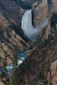 Lower Yellowstone Fall, Yellowstone National Park, Wyoming, USA.