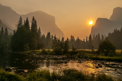 Sunrise in Yosemite Valley,