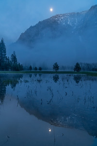 Moon Reflection in Leidig Meadow