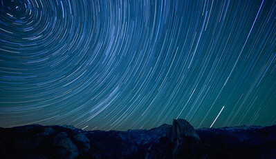 Half Dome and Star Trails