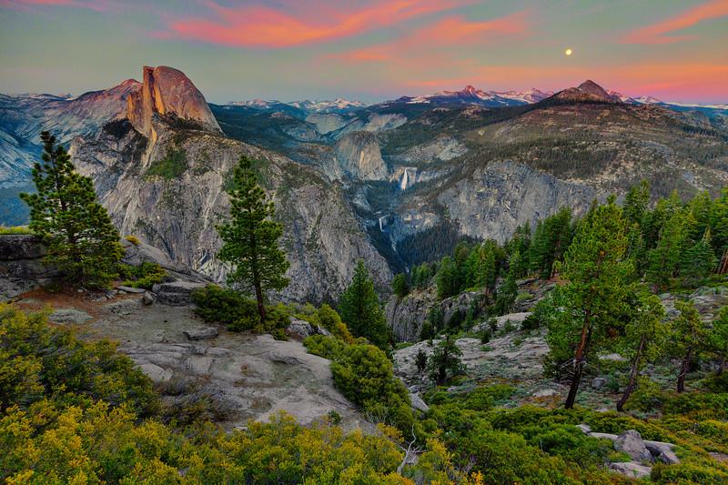 Moonrise Over Yosemite Country