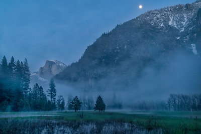 Moonrise and Mist Over Leidig Meadow