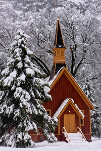 Fresh Snow, Yosemite Chapel