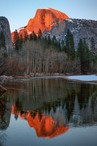 Alpenglow Light on Half Dome