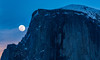 Full moon and Half Dome