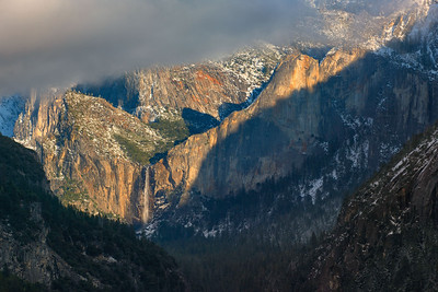 Bridalveil Fall in Clearing Storm