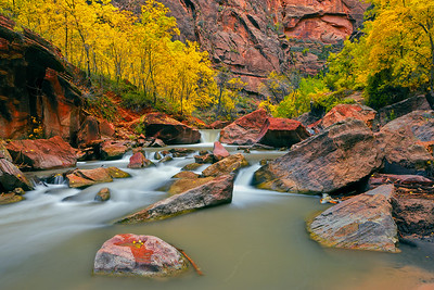The Virgin River and Zion Canyon