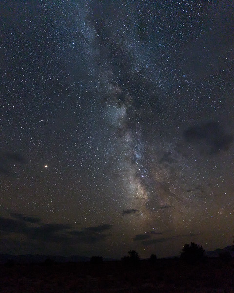Galactic Center Rising Over Dixie Valley, NV - Zack Levey