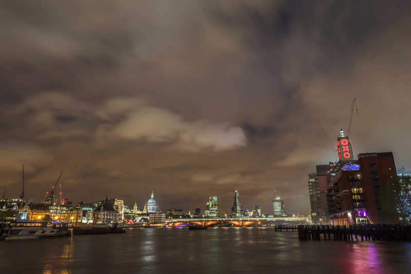 River Thames with Oxo tower and st Paul's Cathedral