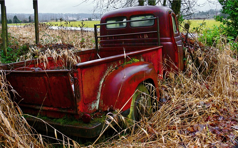 Old Red Chevy 2