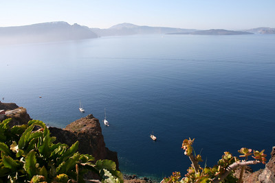 Still Mediterranean in the Santorini caldera.
