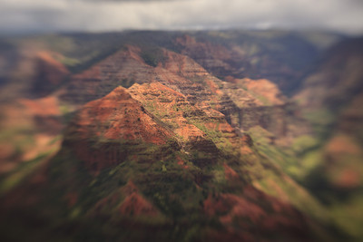 Waimea Canyon, Lensbaby shot, Kauai, Hi. April 2011