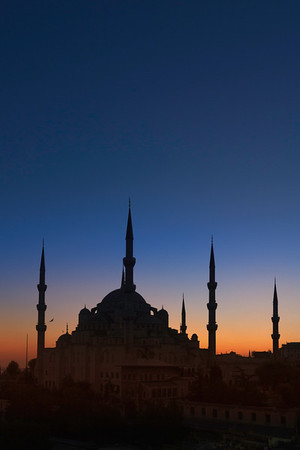 Blue Mosque at sunset, Istanbul