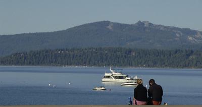 A romantic morning at the Lake.  Lake Tahoe, Nevada