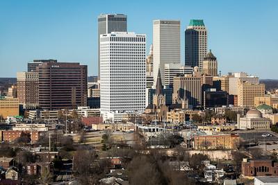 Downtown Tulsa southern skyline