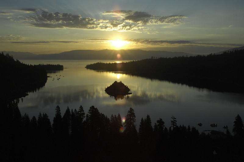 Summer Sunrise at Emerald Bay, Lake Tahoe, Nevada